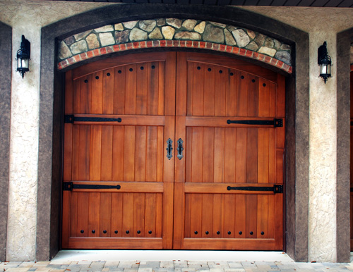 CUSTOM WOOD DOORS - at Omega Garage Doors - Melbourne, Ocala, Florida