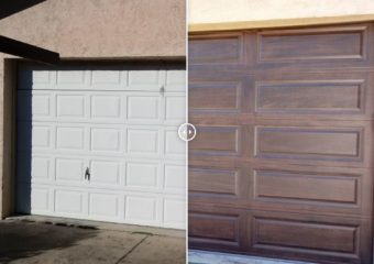 New Insulated Long Raised Panel Steel Garage Door