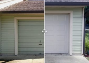 Raised Panel Steel Garage Door Replacement