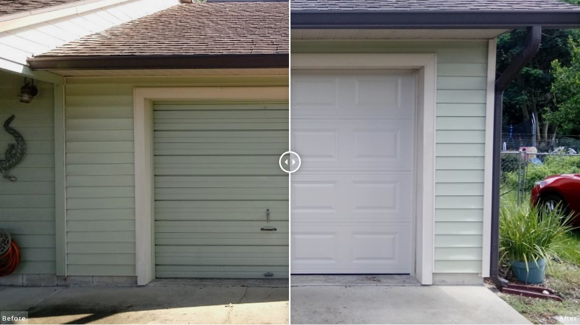 Raised Panel Steel Garage Door Replacement Project