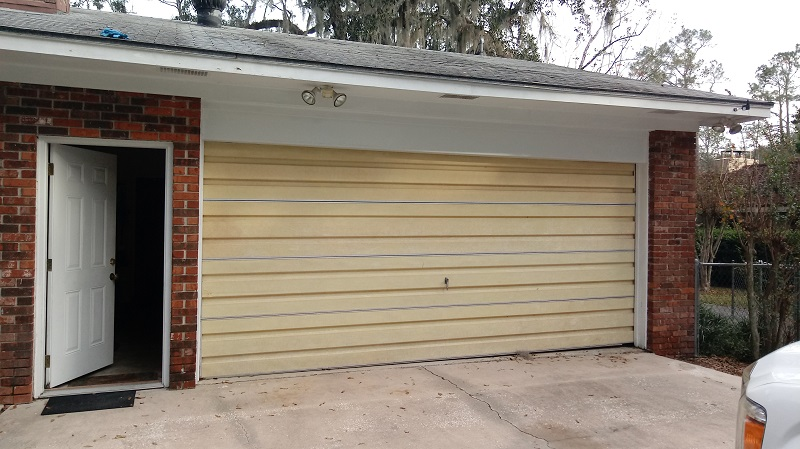 New Urethane Insulated Garage Door - Before