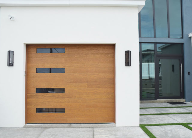 Contemporary Style Beach Front Garage Doors