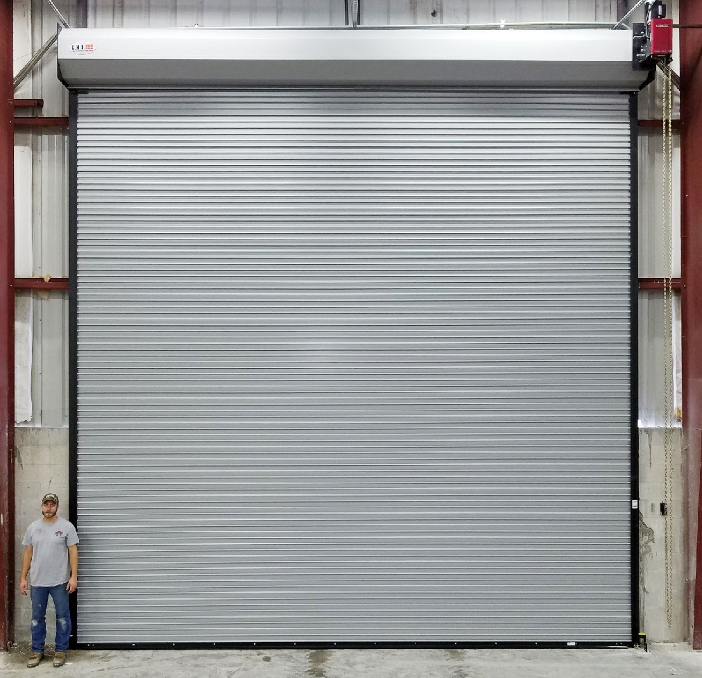 20' X 20' Rolling Steel Door with a Gearhead Operator