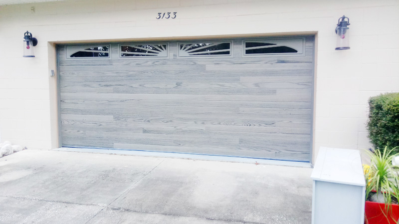Driftwood Planks Garage Door - Omega Garage Doors, Florida