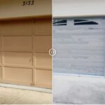 Driftwood Planks Garage Door remodel - Omega Garage Doors, Florida