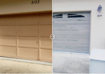 Mid 80's Home Garage Door Replacement, Hurricane Resistant, Strong, and Beautiful