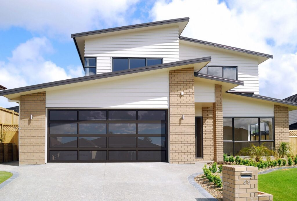 Aluminum and glass garage doors offer an eye-catching, contemporary look to a variety of design applications